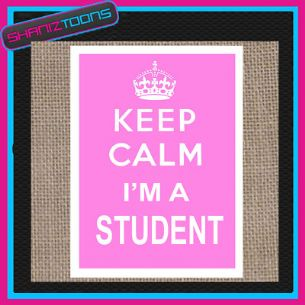 KEEP CALM I'M A STUDENT JUTE  SHOPPING GIFT BAG